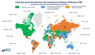 BSI Map : révisions de croissance 2019 et prévisions 2020 (Policy Brief)