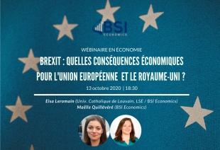 """Wébinaire """"Les conséquences du Brexit"""" (Évènement)"""