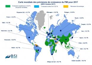 BSI Map : prévision de croissance 2017