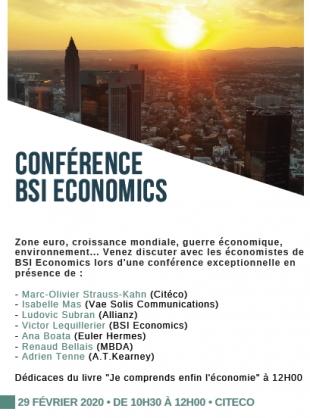 Retour sur la Conférence BSI Economics à Citéco (Evènement)