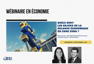 """Wébinaire """"Les enjeux de la relance économique en Zone Euro"""" (Évènement)"""