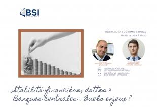 """Webinaire """"Stabilité financière, dettes et banques centrales : quels enjeux ?"""" (Évènement)"""