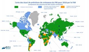 BSI Map : prévisions de croissance 2018 (Policy Brief)