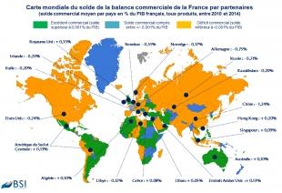 BSI Map : Solde commercial de la France